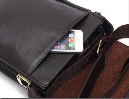 3c49b51c035a Мужская сумка через плечо POLO Videng Classic Темно-коричневая Polo ...
